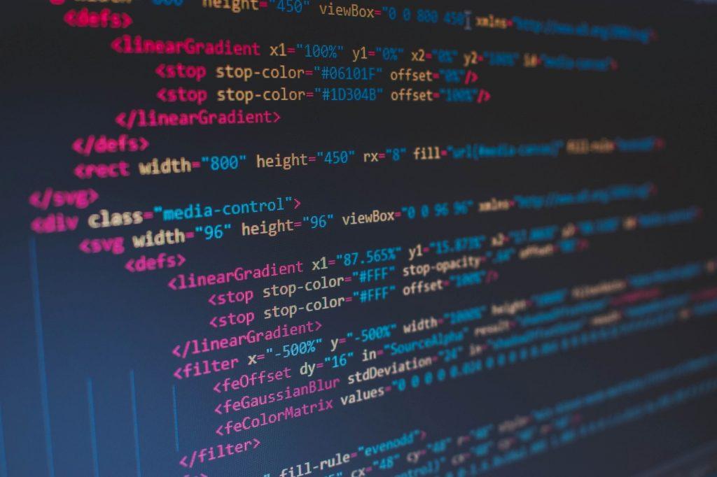 Righe di codice html come esempio del corso di Web editing